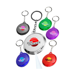 Round Translucent Light Keychains 11