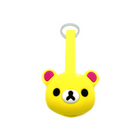 Silicone Cartoon Cute Bear Keychain Multi Ports USB Charging Cable