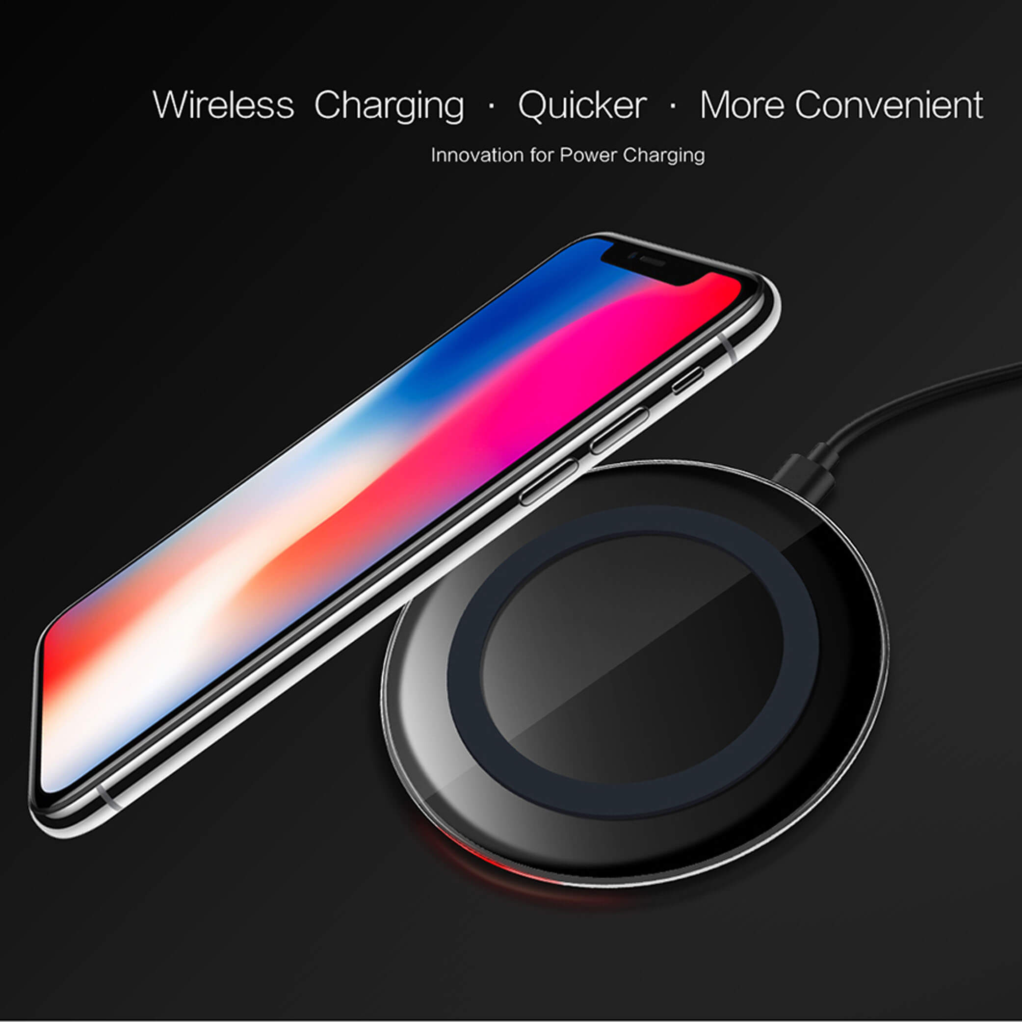 Wireless Charger Compatible with Qi Standard
