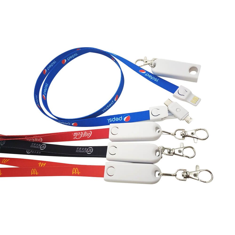 3 in 1 Lanyard USB Charging Data Cable