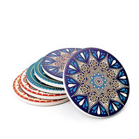 Neoprene Cup Drink Coasters Mats Moisture Absorbing Stone Coasters