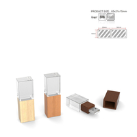 Wooden Crystal USB Flash Drives