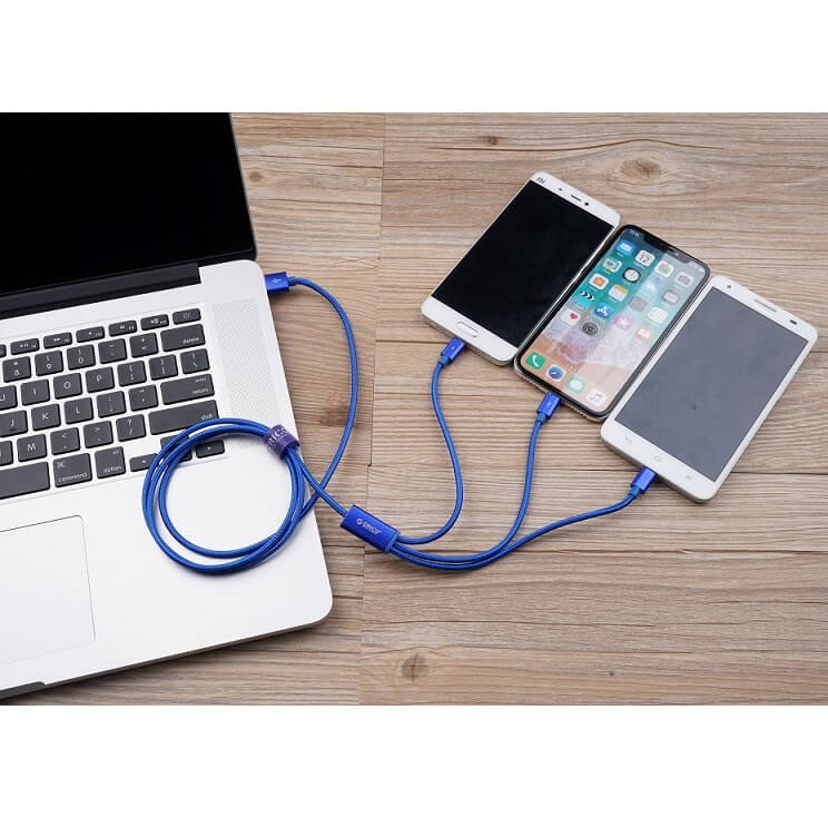 3 in 1 Braided USB Charger Cable Keychain